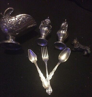 Lot Of Silver Dinner Pieces