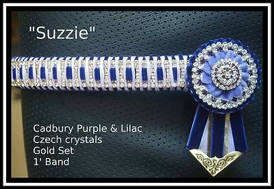 Double purple Bling show browband  Full size special