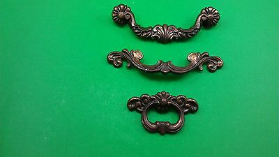 3 Antique Vintage Handles/pulls For Bedside Table Drawers