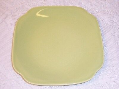 Mid Century Modern Universal BALLERINA Chartreuse Green SQUARE PLATE    2Ch