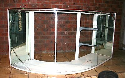 Curved Glass Antique Cabinet - Retail Shop Counter