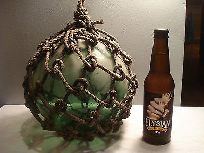 Antique  Blue/Green Glass Fishing Floats Buoy Net  Large 4.25 Lbs.