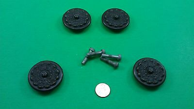 4 Antique Vintage Bronze Hong Kong Round Handles