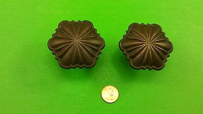 2 Antique Vintage Bronze Italian Handles In A Shape Of Flower