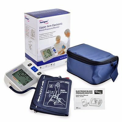 Brand Jumper LCD Automatic Upper Arm Blood Pressure Monitor Pulse Meter + Case