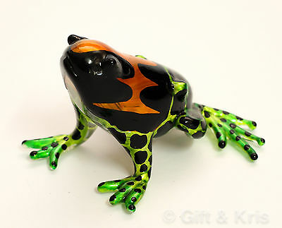Figurine Animal Hand Blown Glass Amphibian Poison Dart Frog - GPFR001