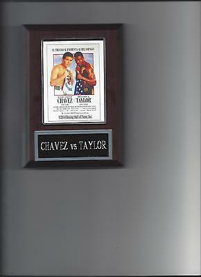JULIO CESAR CHAVEZ vs MELDRICK TAYLOR POSTER PLAQUE BOXING CHAMPION PHOTO PLAQUE