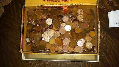 Wheat & Indian Head Pennies Lot - Mixed Early Cents Unsearched Estate Auction NR