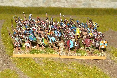 1/100 15mm DPS painted Ancient Early Saxon Noble Warriors ExSA003 RC2312