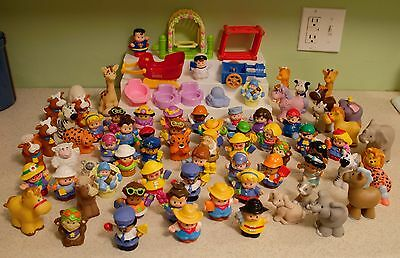 Lot of 80 Fisher Price Little People