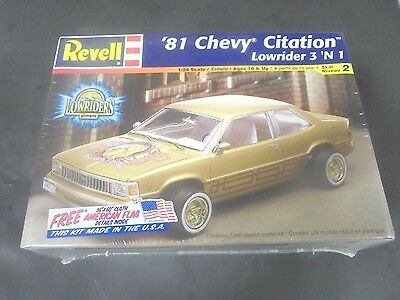 Revell '81 Chevy Citation Lowrider 3 'N 1  24th sealed model kit from 2002