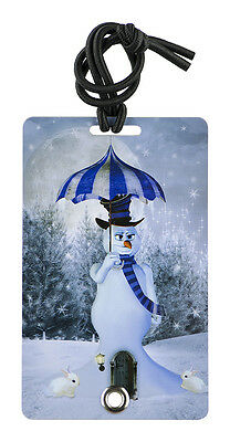 YaYtag - Trendy Luggage Tags - Set of 2 - Blue Snowman by YaY Novelty