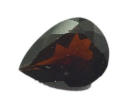 Pear Garnet 6X8 1 pc Faceted Red gems UK