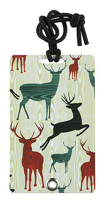 YaYtag - Trendy Luggage Tags - Set of 2 - Woody Reindeer by YaY Novelty
