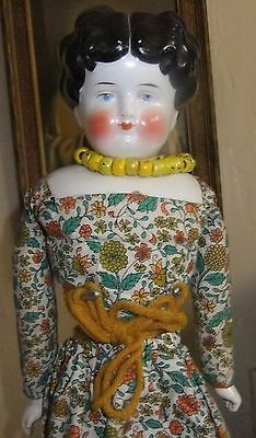 Wonderful Antique Germany China Head in Vintage Clothe and china body 16''