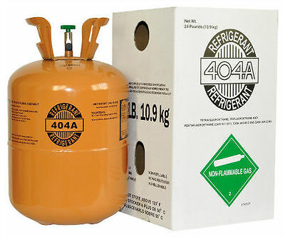 National Brand R404a, Refrigerant 24lb tank. New, Full and Factory Sealed