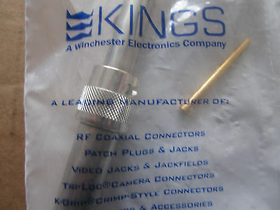 Kings RF/COAXIAL Straight Crimp, P/N:1765-1, 20KV High Volt Plug