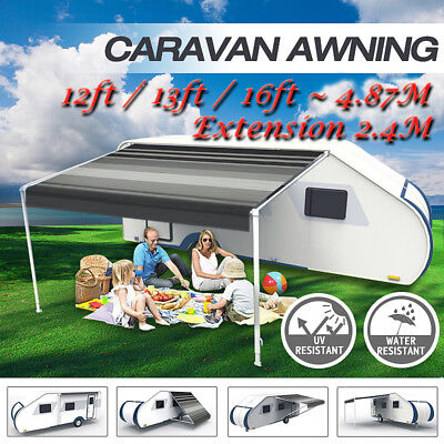 Caravan Roll out Awning Annex Aluminium Construction Complete Pack 3.5M to 5M