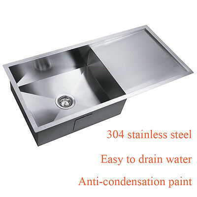 Modern Simple Handmade Stainless Steel  Kitchen/Laundry Sink 960x450mm