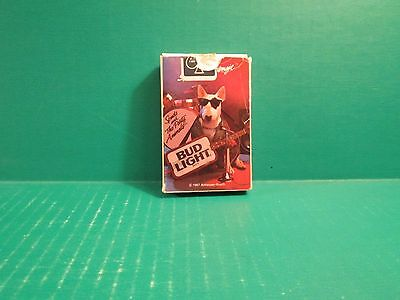 "1987 Anneuser Busch Bud Light ""Spud Mackengie"" Plastic coated Playing Cards"