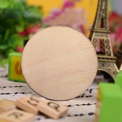 25/50/100pcs Wooden Wood Log Slices Discs Round Decor Rustic Wedding Pyrography