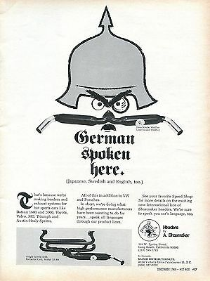1969 Shoemaker Headers Single & Duo-Strobe Muffler For VW German Spoken Here Ad