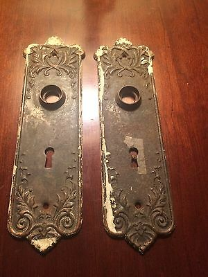 Antique 1800's Brass Matching Key Hole Plates