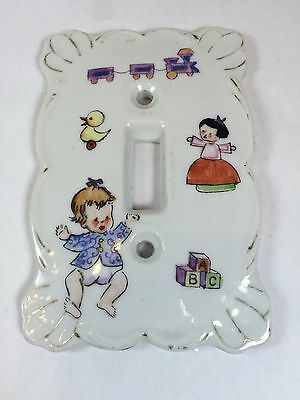 Switch Plate Cover Single Toggle Kelvin Fine China L975 Baby Porcelain White