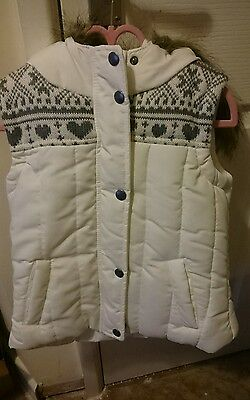 Matalan hooded gilet size 6-7years