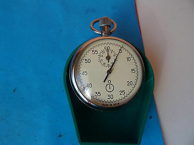 OLD Russian Soviet  POCKET STOP WATCHES AGAT 4262 15 JEWELS PERFECT OPEN FACE