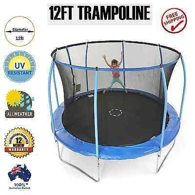 12ft Round Spring Trampoline Free Safety Net Pad Cover