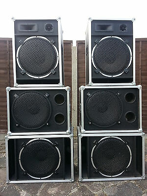 6 Passive Speaker Cabinets With 8 Ohm Celestion 15 Inch 300 Watt RMS Drivers