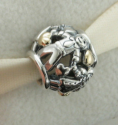 Authentic Pandora Sterling Silver 14kt Gold Family Forever Charm