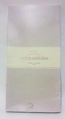 Laura Ashley White Flowers 6 Scented Drawer Liners Perfumed