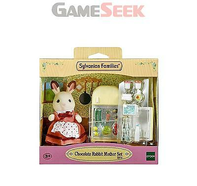 Sylvanian Families Chocolate Rabbit Mother Set - Toys Brand New Free Delivery