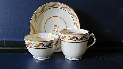 NEW HALL COFFEE CUP TEABOWL & SAUCER PATTERN 142 c1800