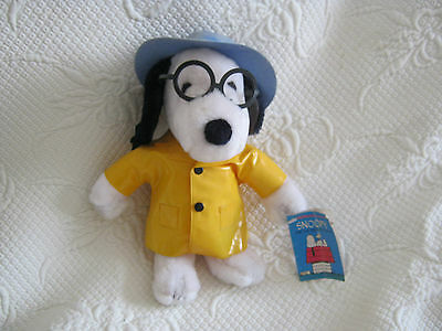 Vintage Snoopy Soft Toy Plush - Yellow Mac/Glasses/Hat Applause (Determined)