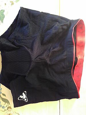 Tasdan, womens cycling shorts pants, black and red, brand new