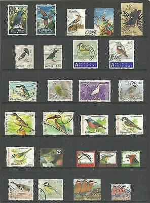 0398~~   SELECTION of fine used   BIRD  STAMPS...............~~~