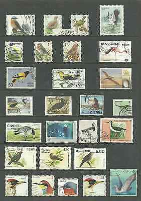 0399~~   SELECTION of fine used   BIRD  STAMPS...............~~~