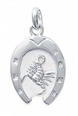 Silver 925/000 Pendant Horseshoe Pendant with Scorpio Zodiac Sign: Jewellery Uni