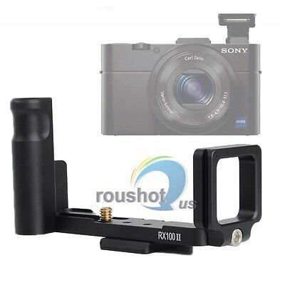 【US】L-Shaped Vertical Quick Release Plate Bracket Grip For Sony RX100II Camera