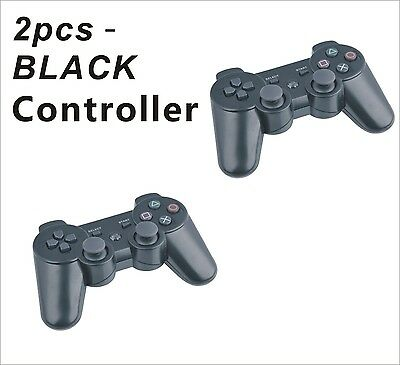 2 x Wireless Bluetooth Controller for Sony PS3 Plastation 3 + USB Cable