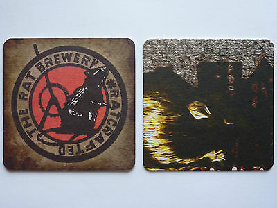 The Rat Brewery #Rat Crafted (1) Beermat Coaster