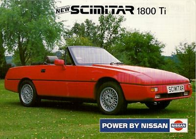 Reliant Scimitar SST 1800 Ti 1989-92 UK Market Leaflet Sales Brochure