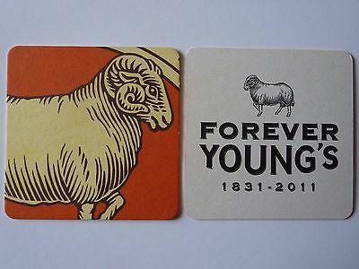 Young's Brewery Forever Young's 1831 - 2011 Beermat Coaster
