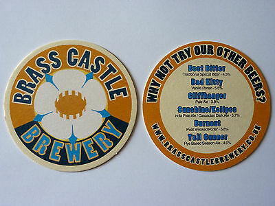 Brass Castle Brewery Beermat Coaster A