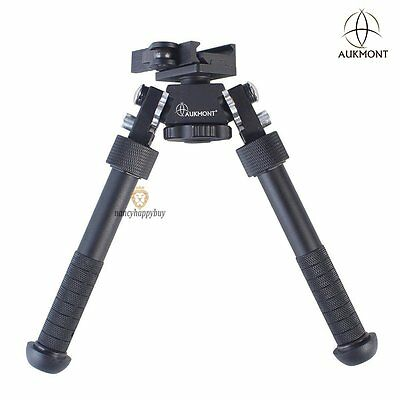 "Aukmont Pro Tactical 4.75 – 9.0"" Rotatable Bipod QD Auto Lock Picatinny Mount"