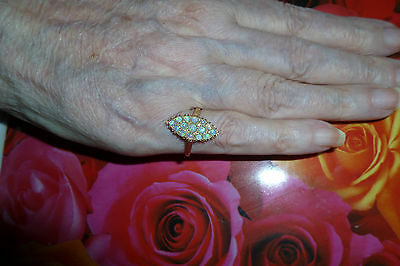 Vintage Opal Gold Ring9ct Excellent Condition Wt2.5grams Size6.75