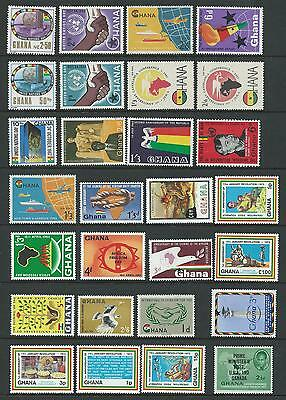 Ghana  A Selection of 28 Hinged Mint Stamps (1)